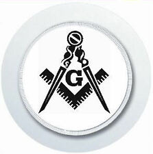 FREEMASON MASONIC SQUARE & COMPASS CAR TAX DISC HOLDER REUSABLE