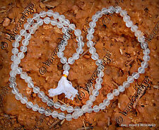 SPATIK CRYSTAL SPHATIK QUARTZ SPATIKA NECKLACE CHAIN JAPA MALA 108 +1 BEAD BEADS
