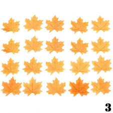 100pcs Fall Silk Leaves Wedding Party Favor Autumn Maple Leaf Decorations Set