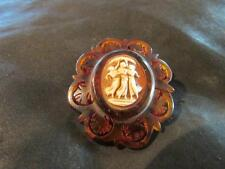 Lovely Victorian faux Tortoiseshell, Three Graces Cameo Brooch