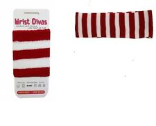 Red And White Striped  Headband & Wristband 118 Fancy Dress Accessories.