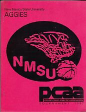 1987 NEW MEXICO STATE AGGIES PCAA BASKETBALL TOURNAMENT GUIDE