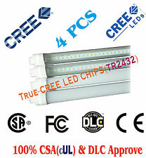 4 PCS LED T8 Tube Lights,CREE CHIPS,2180lm 18W 4Ft - CSA (261199)& DLC Approved
