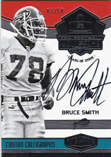 2016 Plates & Patches Bruce Smith Canton Calligraphy Autograph HOF 2009 03/50