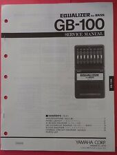 Original Yamaha GB-100 Equalizer for BASS Guitar Pedal SERVICE Manual