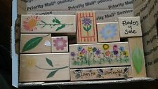 LOT of 10  - FLOWER STAMPS  Cardmaking/Scrapbooking/Stamping  (I)