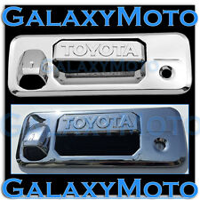 14-16 Toyota Tundra CrewCab Overlay Chrome Tailgate Handle Cover+Camera Hole