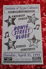 Bowie St Blues (1995) Concert Poster TEXAS JOHNNY BROWN Grady Gaines JOE HUGHES