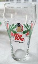 4 Big Boy Restaurant & Bakery Christmas Lights Santa Hat Beverage Soda Glasses