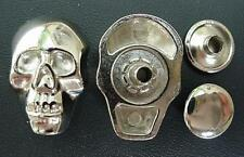 "METAL SKULL CASTING BUTTON  ORNAMENT W RIVET 1"" 8 pcs"