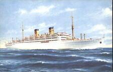 Schiff Ship Kreuzfahrtschiff MS ITALIA um 1950/60 color Schiffsfoto Postkarte