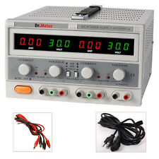 Dr. meter Triple-Output 30V 5A Linear DC Power Supply Regulated Variable LED New