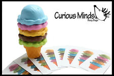 Ice Cream Cone with Pattern Cards - Pretend Play, Kitchen Food, Play food, Toy