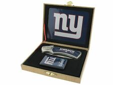 Folding Knife and Flip top Lighter Gift Set - New York Giants
