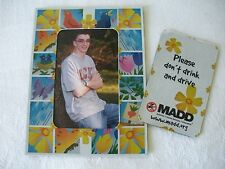"2 PC M.A.D.D. ""Mothers Against Drunk Driving"" PICTURE FRAME MAGNET From 1995-96"