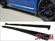 CS Style Carbon Fiber Side Skirts Lip Fit For 08-14 Subaru Impreza WRX STI 4Dr