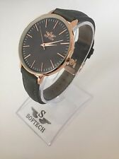 F&MJ738 Rose Gold & Grey Ladies Watches Women Fashion Softech Quartz Wrist Watch