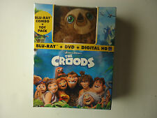 The Croods (Blu-ray/DVD, 2013, 2-Disc Set, Includes Digital Copy; With Toy) NEW