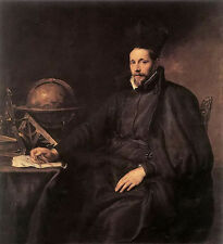 Oil painting Anthony van dyck - portrait of father jean-charles della faille, s.