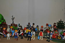 10 random playmobil figures men people children police pirates fire victorian !!