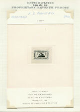 #RS220P1 FULL SZ DIE PROOF ON INDIA, DIE SUNK ON CARD SUPERB (EX-JOYCE) BQ3209