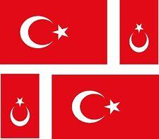 4 x Aufkleber Auto Sticker tuning motorrad TüRKISCHE Fahne Flagge TÜRKEI