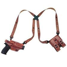"Galco Shoulder Holster Miami Classic Glock 17,19,22,23 4.5"" Tan Leather Right"