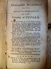 1749 ANTIQUITIES & CURIOSITIES OF THE UNIVERSITY OF OXFORD - OXONIENSIS ACADEMIA