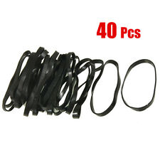 40 Pieces Practical Black Elastic Rubber Band Hair Tie Ponytail Holders New