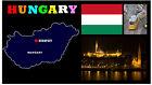 HUNGARY MAP & FLAG - SOUVENIR NOVELTY FRIDGE MAGNET - BRAND NEW - GIFT