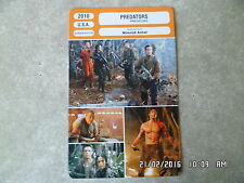 CARTE FICHE CINEMA 2010 PREDATORS Adrien Brody Alice Braga Laurence Fishburne
