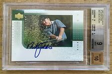 2001 UD UPPER DECK GOLF NICK FALDO AUTO AUTOGRAPH ON CARD PLAYERS INK BGS 9 HOF