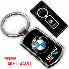 BMW CAR KEYRING KEY CHAIN RING FOB CHROME METAL NEW
