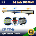 44 INCH 288W CREE LED SPOT&FLOOD DRIVING OFFROAD WORK LIGHT BAR 4WD WD-72W/240W