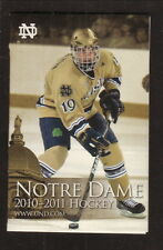 2010-11 Notre Dame Fighting Irish Hockey Schedule--SBO