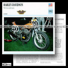 #032.08 HARLEY-DAVIDSON 500 R DIRT-TRACK 1992 Fiche Moto Motorcycle Card