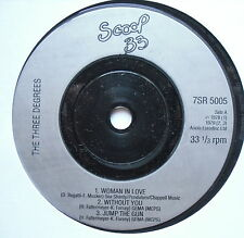 "THREE DEGREES - Woman In Love - Excellent Con 7"" Single Scoop 33 7SR 5005"