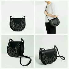 ZARA LEATHER CROSS BODY BAG WITH COINS DETAIL REF. 4500/104 NWT!!!