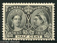 CANADA JUBILEE SC#50 1/2c XF  CENTERING BRILLIANT   EXCEPTIONAL COLOR MINT LH OG