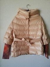 NEW MISSONI QUILTED DOWN PUFFER JACKET COAT KNITTED CUFFS  42 IT / M US
