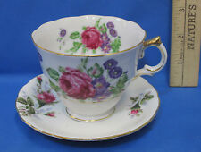 Vintage Tea Cup & Saucer Pink Flower Floral Gold Trim Yada China Hand Paint