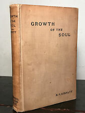 GROWTH OF THE SOUL: A Sequel to Esoteric Buddhism, by A.P. Sinnett, 1st/1st 1896