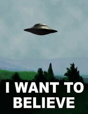 "20 I Want To Believe - X Files Art Movie Film UFO 14""x18"" Poster"