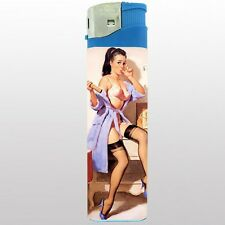 Jumbo Size Huge Big Giant 6.5inch Electronic Lighter Pin Up Girl Design-020