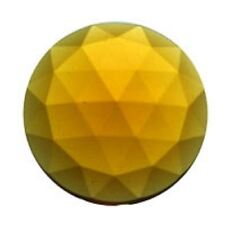 'Light Amber' 30mm Faceted Glass Jewel - for Stained Glass Projects