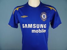 Authentic Chelsea 2005-06 Home Shirt Umbro Samsung Mobiel Size Small Blue