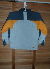 BOYS RIPZONE SNOWBOARDING JACKET -LT. GRAY/LT. ORANGE/DK. GRAY -SIZE L