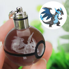3D Crystal Ball Pokemon Pokeball Mega Charizard Keychain Keyring Key Chain Ring