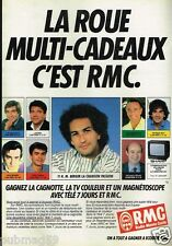 Publicité advertising 1986 Radio RMC avec Michel Berger