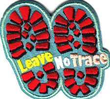 """LEAVE NO TRACE"" PATCH/Iron On Embroidered AppliquePatch/Military, Camping"